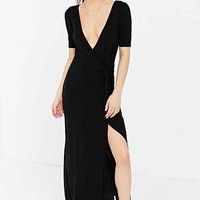 Ecote Wrap Maxi Dress- Black