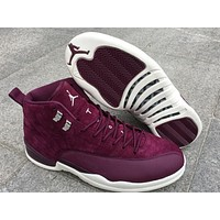 Air Jordan Retro 12 Bordeaux Basketball Shoes Men Sport Shoe Bordeaux 12s Sports Athletic Trainers High Quality Sneakers