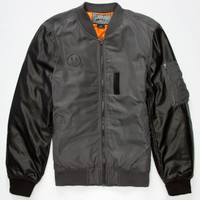 Brooklyn Cloth Mens Bomber Jacket Charcoal  In Sizes