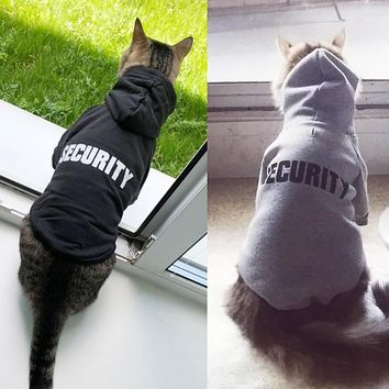 Security Cat! Hoodies For Cats