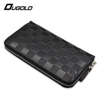 Men Wallet Brand Leather High Quality Stone Long Purses Phone Pocket Coin Purses Holders Zipper Male Wallets