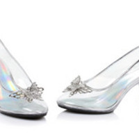 "Women's 3"" Heel Clear Mule W/ Butterfly"