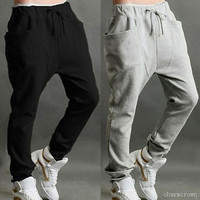 Men's Casual Harem Jogger Pants Baggy Hiphop Dance Sport Sweat Trousers Tracksuit