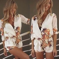 Print Slim Long Sleeve Stylish Jumpsuit [6048650497]
