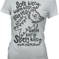 Soft Kitty Fitted Ladies' Tee - Ice Grey,