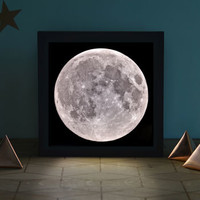 Full Moon Light Box