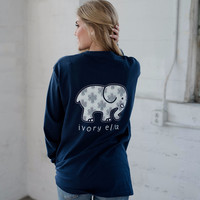 Classic Fit True Navy Endless Knot Tee