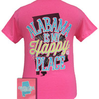 Girlie Girl Originals Alabama Is My Happy Place State Southern T-Shirt