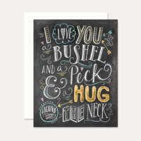 I Love You a Bushel & a Peck - A2 Note Card