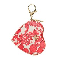 Tory Burch Kerrington Heart Zip Coin Case Key Fob