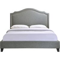 Charlotte Queen Bed Frame Gray Fabric