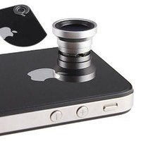 Amazon.com: Magnetic 0.67X Wide Angle / Macro Lens Designed for Apple iPhone 4 4S iPod Nano 5 iPad: Camera & Photo