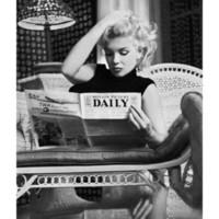 Marilyn Monroe Reading Motion Picture Daily, New York, c.1955 Print by Ed Feingersh at AllPosters.com