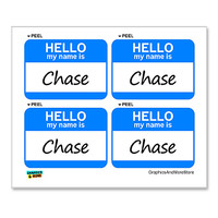 Chase Hello My Name Is - Sheet of 4 Stickers