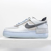 Nike Air Force 1 Shadow low-top simple macaron colorblock sneakers shoes