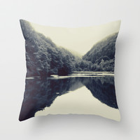 The Lake Throw Pillow by SabineD