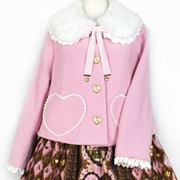 Heart Pocket Short Coat - Pink [172C09-050037-pk] - $270.00 : Angelic Pretty USA