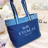 COACH Fashion Women Shopping Bag Canvas Handbag Tote Shoulder Bag Satchel