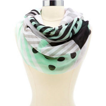 MIXED PRINT INFINITY SCARF