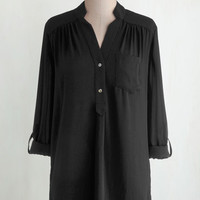 Steampunk Long 3 Pam Breeze-ly Tunic in Black