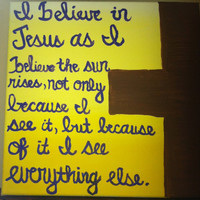 Christian Canvas Quote Paining 12x12 by OnceUponaCanvasShop