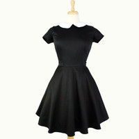 Classic Wednesday Addams  Black Skater  Dress