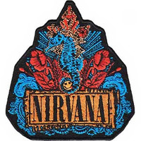 Nirvana Iron-On Patch Seahorse Logo