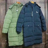 """""""Under Armour"""" Men Sport Casual Fashion Cardigan Long Sleeve Thickened Cotton-padded Clothes Middle Long Section Coat I-ZDL-STPFYF"""