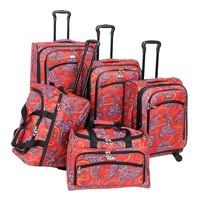 American Flyer Luggage, Paisley 5-pc. Spinner Luggage Set