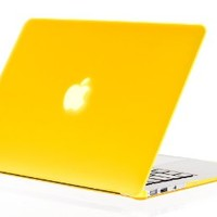 """Kuzy - AIR 13-inch YELLOW Rubberized Hard Case for MacBook Air 13.3"""" (A1466 & A1369) (NEWEST VERSION) Shell Cover - Yellow"""