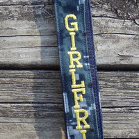 US Navy Girlfriend , Navy NWU, Embroidered Lanyard, Military, Armed Forces