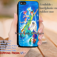 Flying to Neverland Peter Pan iPhone 6s 6 6s+ 5c 5s Cases Samsung Galaxy s5 s6 Edge+ NOTE 5 4 3 #cartoon #animated #disney #peterpan dl13