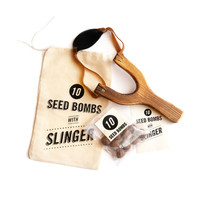 Guerrilla Gardening Slingshot Seed Bomb Kit for for Garden Bombing to Grow Colorful Wildflowers