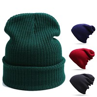 2016 New Design Fashion Skullies Beanies Women Warm Hat Knit Hat Female Cap Men Winter Hat For Women Beanie Warm Cap Unisex