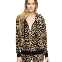 Leopard Relaxed Hoodie by Juicy Couture