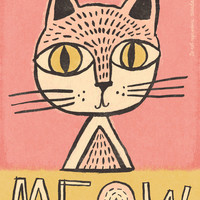 Meow Cat Poster