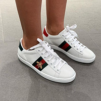 GUCCI Classic Lace up print casual shoes flat comfort sneakers 9/11