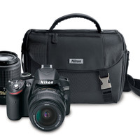 Nikon D3200 24.2MP Digital SLR Camera Black Body With Lens 18-55mm and 55-200mm Lenses Bundle 13313