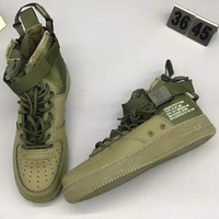 NIke SF AF1 High Tops Fashion Casual Running Sneakers Running Sports Shoes Army green G-CSXY