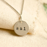 CARVED IN SILVER . Personalized Necklace . Couples Necklace . silver pendant necklace . personalized necklace . personalized gift