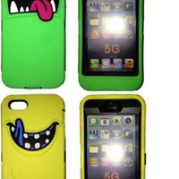Apple :: Scary Monster 3 piece Hybrid Case built in Screen Protector for iPhone 5