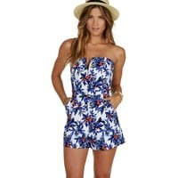 Blue Welcome To Bali Romper