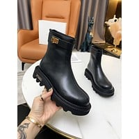 Givenchy 2021Trending Women's men Leather Side Zip Lace-up Ankle Boots Shoes High Boots07060gh