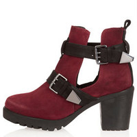 ANCHOR Cut Out Buckle Boots - Boots  - Shoes