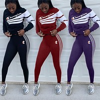 CHAMPION Womens Two Piece T-Shirt and Pants Set Clothing G116