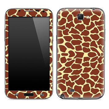 Giraffe Animal Print Clipart Skin for the Samsung Galaxy Note 1 or 2