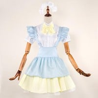 5pcs Servant Women Cosplay Party Halloween Lolita Fancy Dress Sexy Japan Adult Girls Costumes