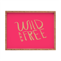 Allyson Johnson Wild and free glitter Rectangular Tray