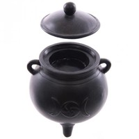 Cauldron Tea Light Holder - Triple Moon at Every Witch Way Online Shop
