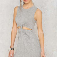 Hot Knot Ribbed Dress